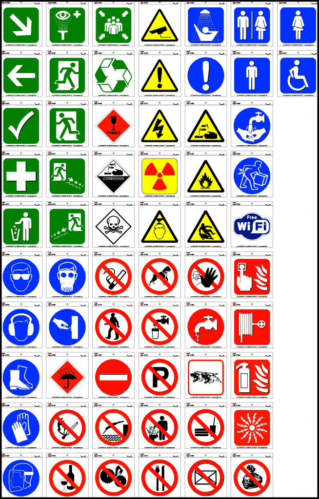 Self Adhesive Health And Safety Stickers 10cm X 10cm As